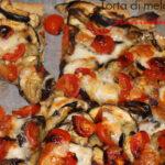 Una cena gustosa e sana: Torta Salata con Melanzane Pomodorini e Mozzarella