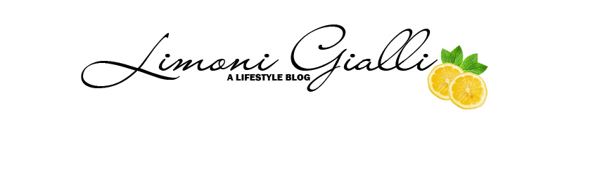 Limoni Gialli - Lifestyle, Beauty, food and books blog