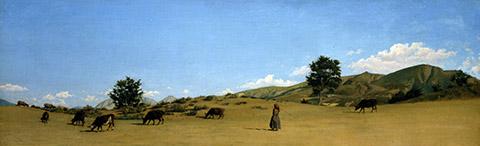 I Macchiaioli-Serenesi, Pastura in montagna