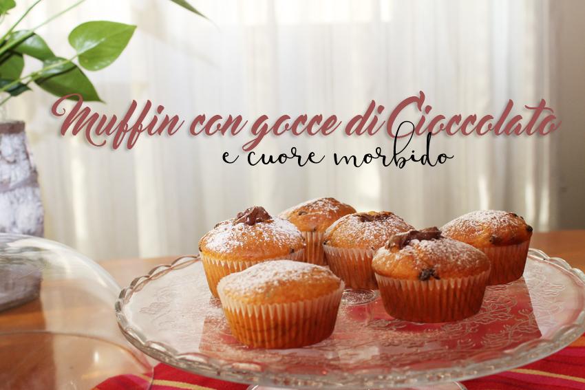 muffin gocce di ciccolata e cuore morbido-4